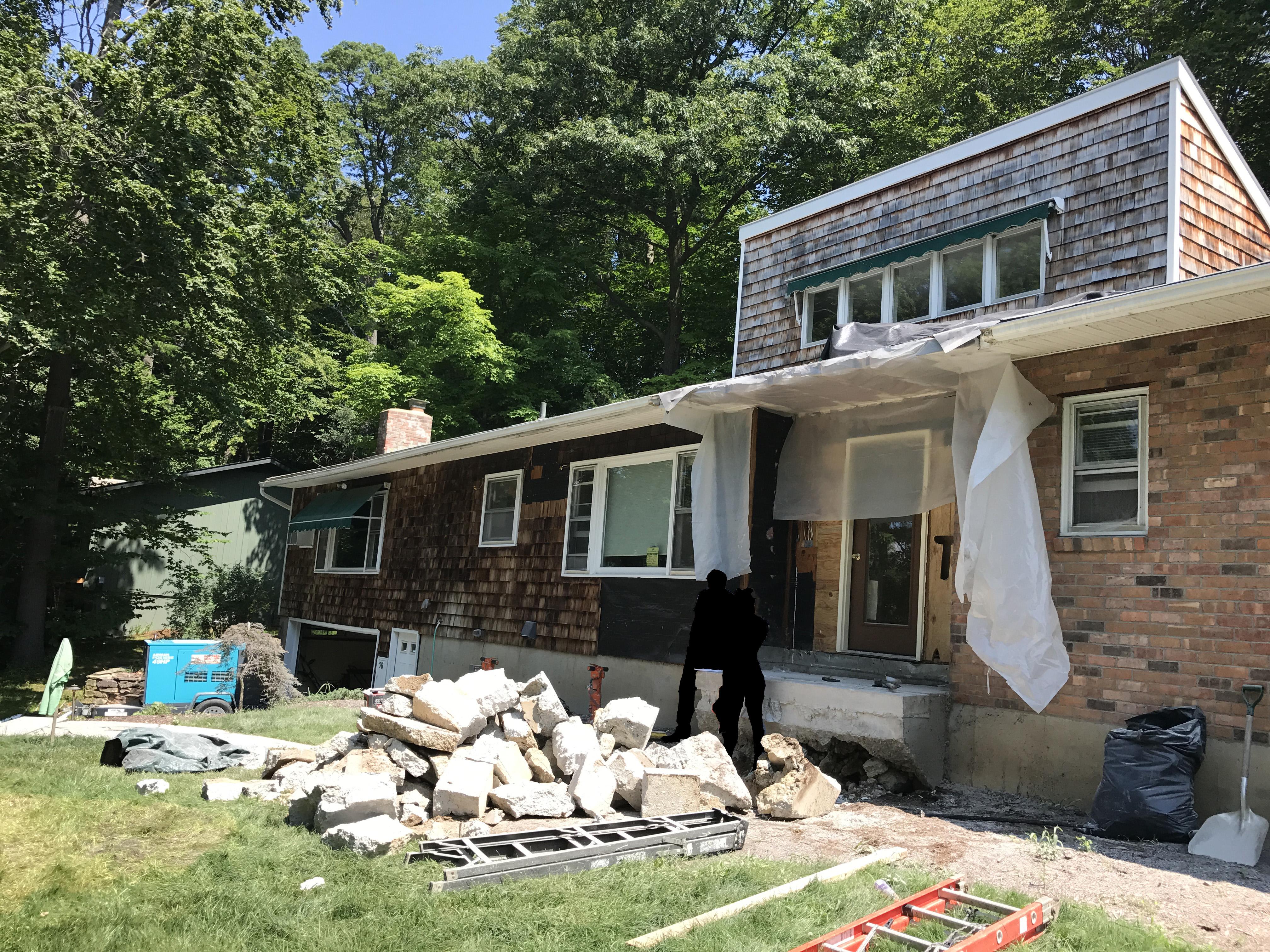 16 Demolition Of Front Steps And Mudroom Distinctive