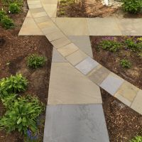 After: Detail of bluestone walkways