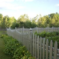 Classic, decorative, wooden fences