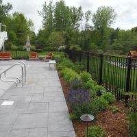 Planted iron fences