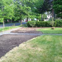 Install: Defining garden bed edges, beginning to start plant layout.
