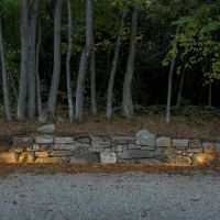 Help your guests park at night with lit retaining walls.