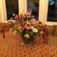 A stunning bouquet the residents picked from their new garden sanctuary.